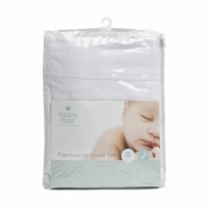 Baby First Flannelette Cot Sheet Set