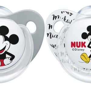 NUK Mickey/Minnie Mouse Silicone Soothers 2pk Size 2 6-18mths