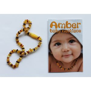 Amber Bead Necklace – Mixed Matte
