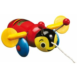 Buzzy Bee Classic Wooden Pull Along Toy
