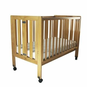 Babyhood Fold N Go Wooden Cot – HIRE ONLY