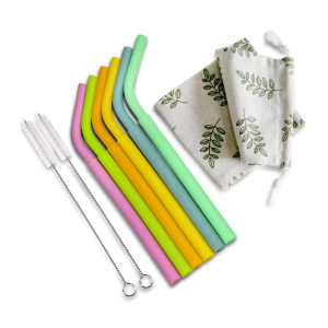 Haakaa Detachable Curved Silicone Straws 6pk