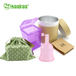 Haakaa Silicone Flow Cup (Menstrual Cup) Valve- Large 24ml