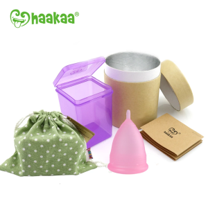 Haakaa Silicone Flow Cup (Menstrual Cup) Short Stem- Large 30ml