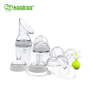 Haakaa Generation 3 Premium Silicone Breast Pump And Baby Bottle Pack