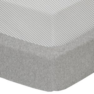 Living Textiles Jersey Cot Fitted Sheets 2pk Grey