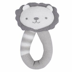 Living Textiles Knitted Rattle Austin The Lion