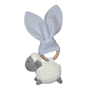 Living Textiles Knitted Teether Toy Sheep