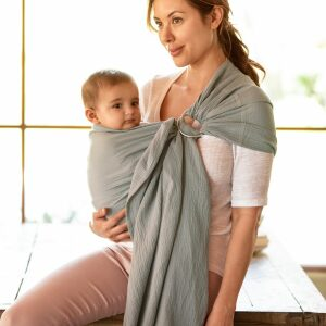 Moby Ring Sling Double Gauze Pewter