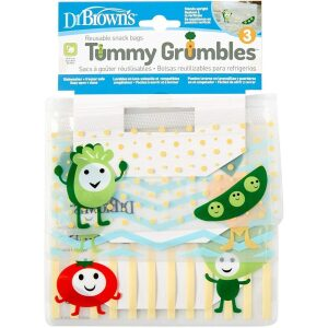 Dr Browns Tummy Grumbles Reusable Snack Bags 3pk