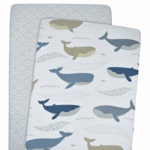 Lolli Living 2pk Bassinet Fitted Sheets Oceania