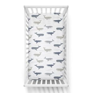 Lolli Living Cot Fitted Sheet Oceania Whales