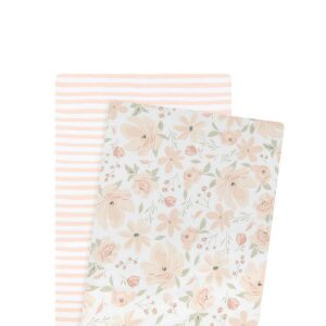 Lolli Living 2pk Bassinet Fitted Sheets Meadow