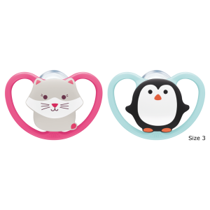 NUK Space Silicone Soothers 18-36mths 2pk