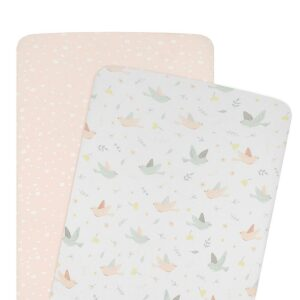 Living Textiles Cradle/Co-Sleeper Fitted Sheets 2pk – Ava
