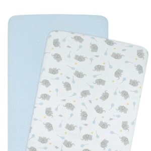 Living Textiles Cradle/Co-Sleeper Fitted Sheets 2pk – Mason
