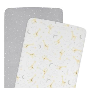 Living Textiles Cradle/Co-Sleeper Fitted Sheets 2pk – Noah