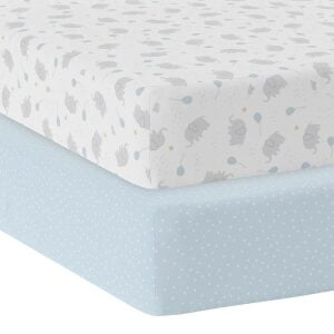 Living Textiles 2pk Cot Fitted Sheets – Mason