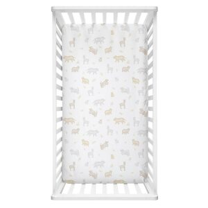 Lolli Living Cot Fitted Sheet – Bosco Bear